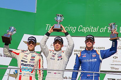 Santiago Urrutia logró podio en Indianápolis