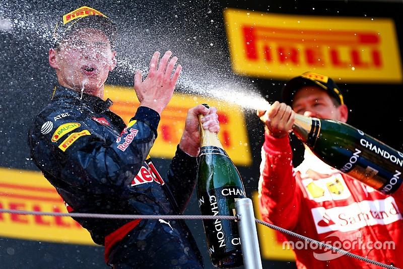"""Vettel: """"Chapeau dat Verstappen voor Kimi wist te blijven"""""""