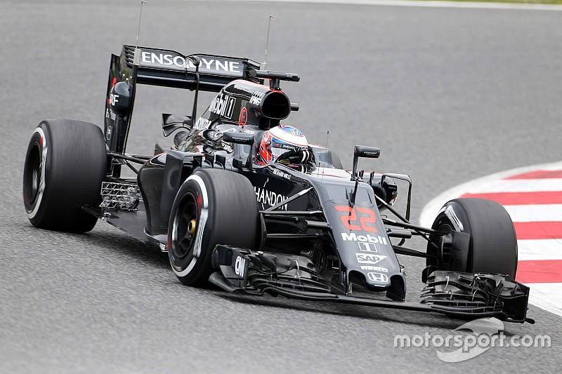 Button en tête de la matinée d'essais à Barcelone