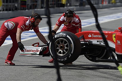 La Ferrari non controlla l'aumento della pressione delle gomme
