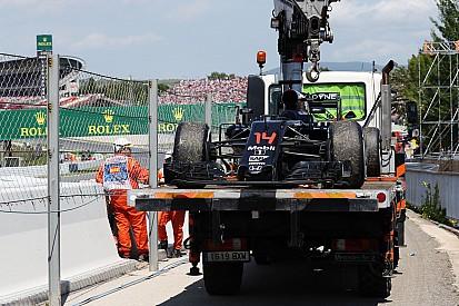 Alonso pode ter cometido erro em abandono na Espanha