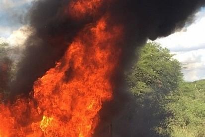 Un accidente de Paddon provoca un incendio en el Rally de Portugal