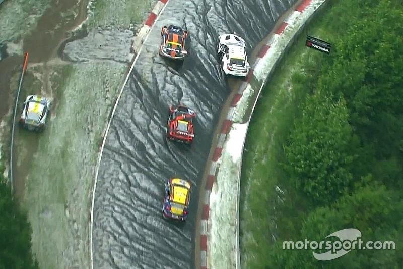 ニュルブルクリンク24時間は序盤から大混乱。大雨&雹でレース中断