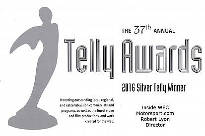 Motorsport.com荣获两项泰利电视奖(Telly Award)最佳网络电视片奖