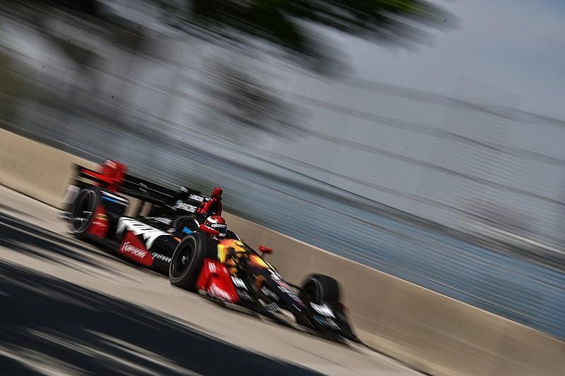 La grille de départ de la Course 1 à Detroit
