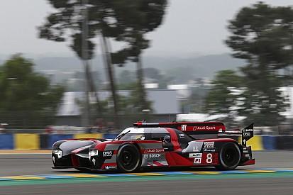 Audi eindigt Le Mans-testdag bovenaan, Catsburg verrast in GTE Am-categorie