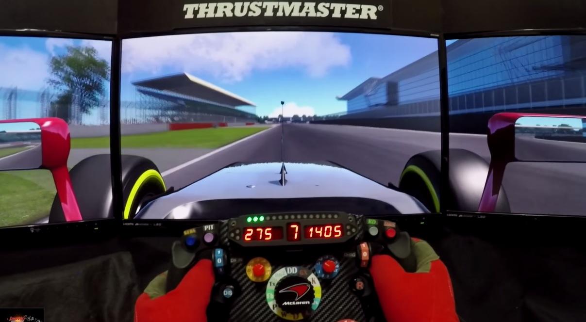 Szimulátoros pályabejárás Silverstone-ban: F1 2015 – Assetto Corsa