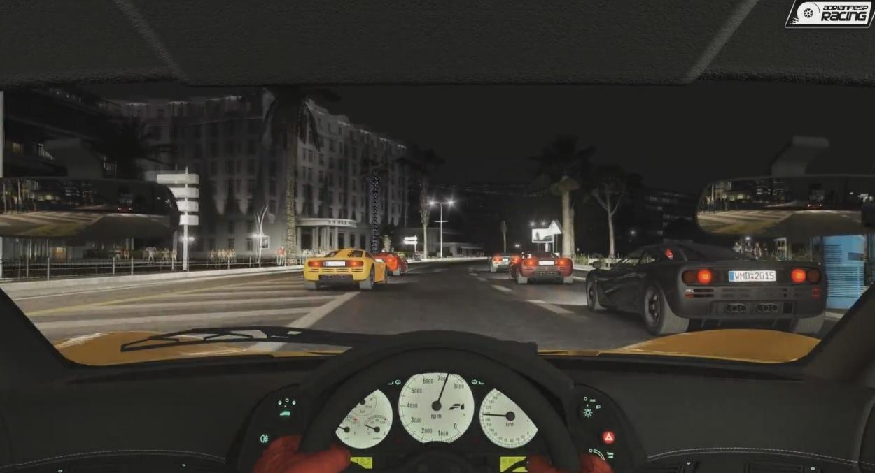 Project CARS: Éjszaka a legendás McLaren F1 szuper-sportautóval maximális grafikai beállítások mellett