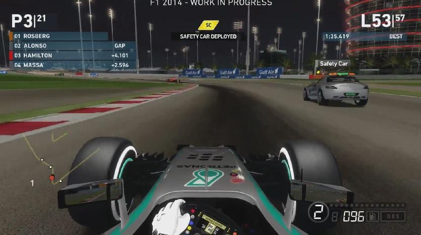 F1 2014: Biztonsági autó a játékban! Videón a jelenet, amint az SC behajt a pályára!