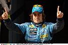Alonso és a 341 km/órás tempó a gyári Renault-val 2005-ben Kínában