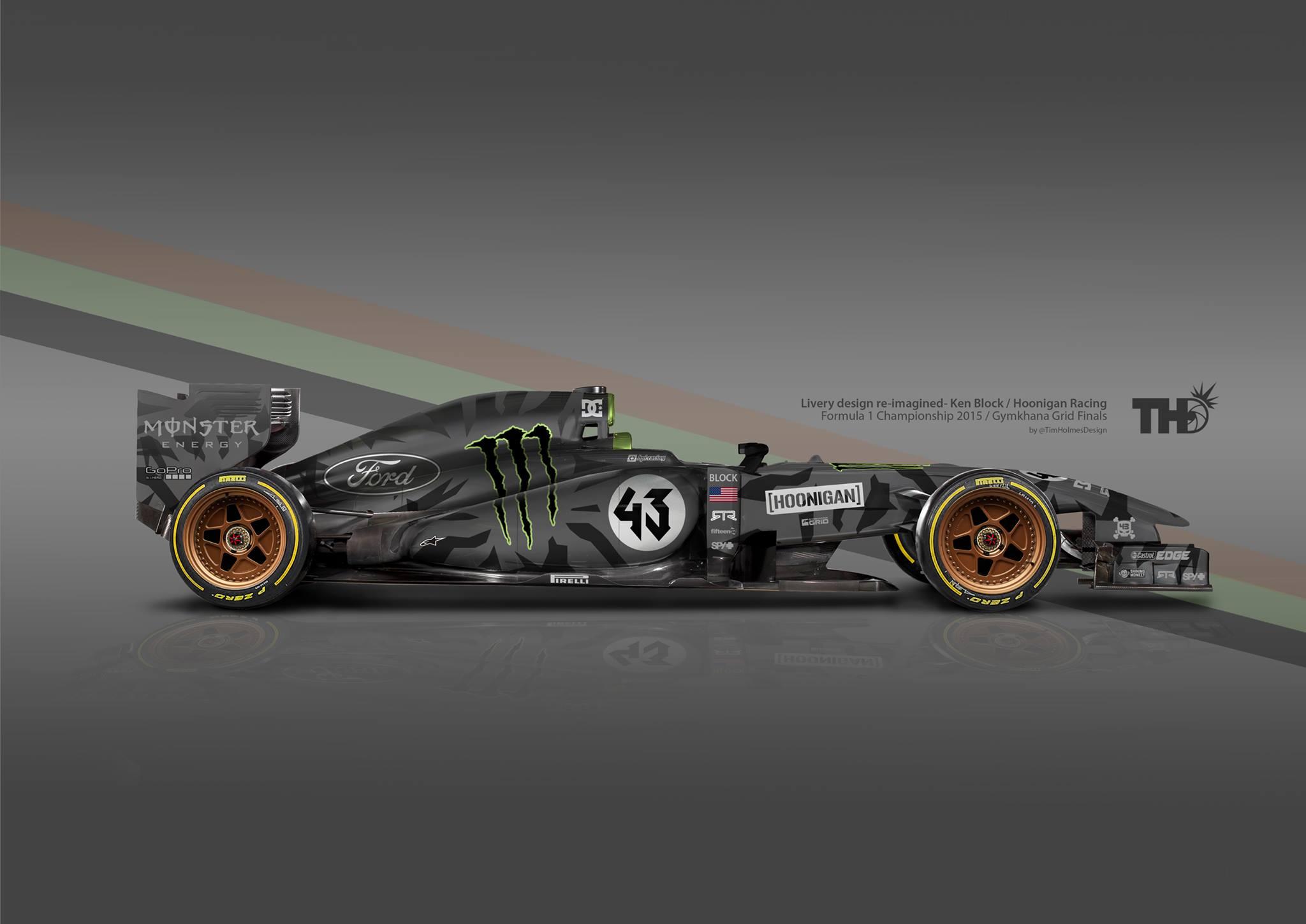 Egy rendkívül menő F1-es festés: Ken Block, Ford és AMERIKA