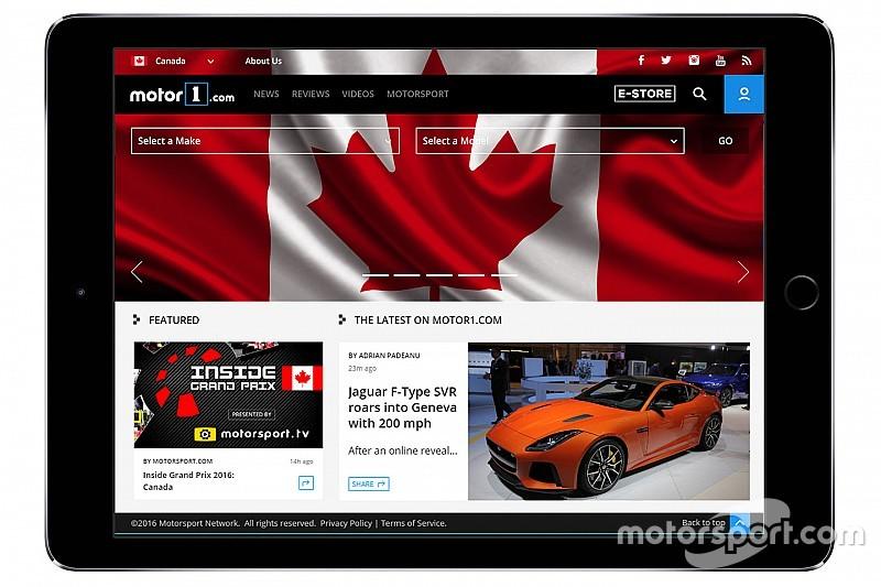 Motor1.com lanceert Canadese editie