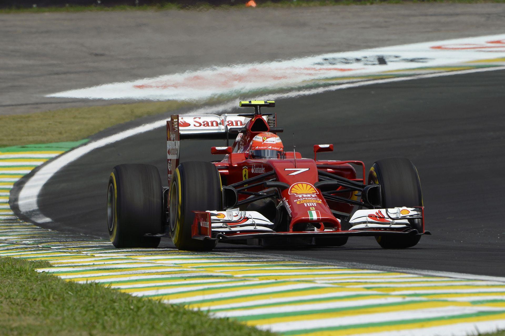 Räikkönen alatt ismét elfogyott a Ferrari, ami nagyon lassú volt az egyenesekben
