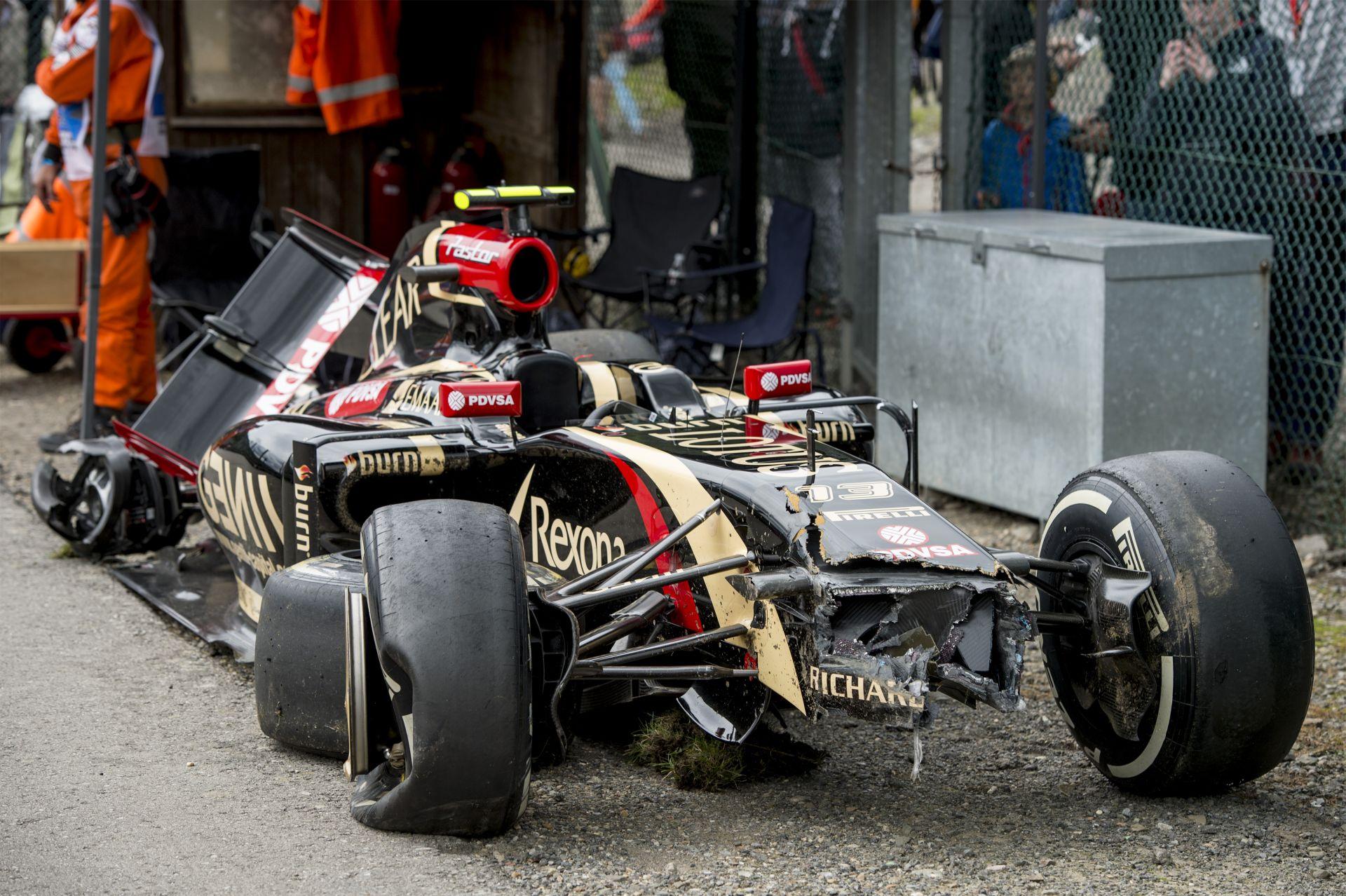 Maldonado, a specialista: Egészen közeli képeken a rommá tört Lotus