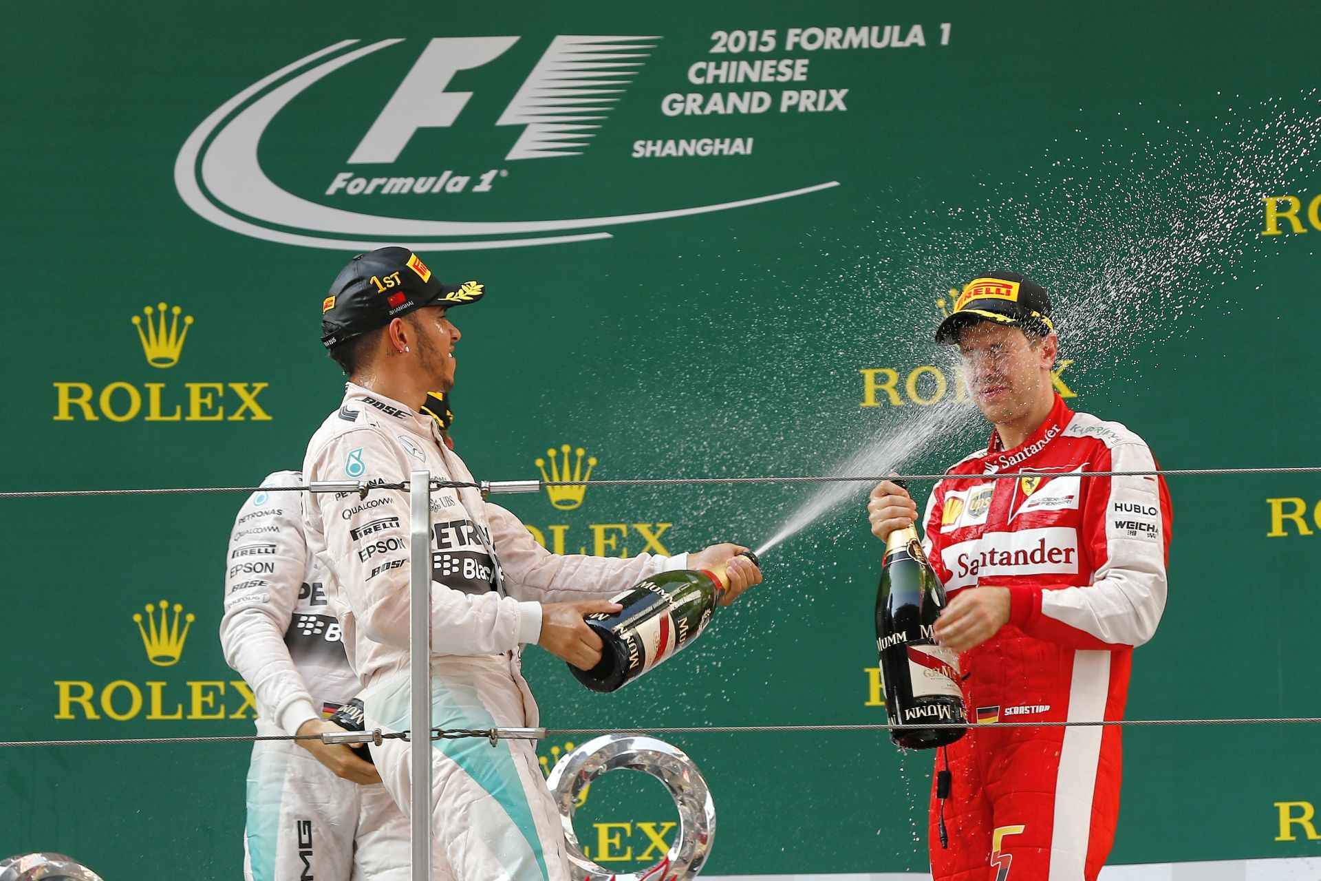 Kínai Nagydíj 2015: Képgaléria az öröm pillanatairól – Hamilton, Rosberg, Vettel