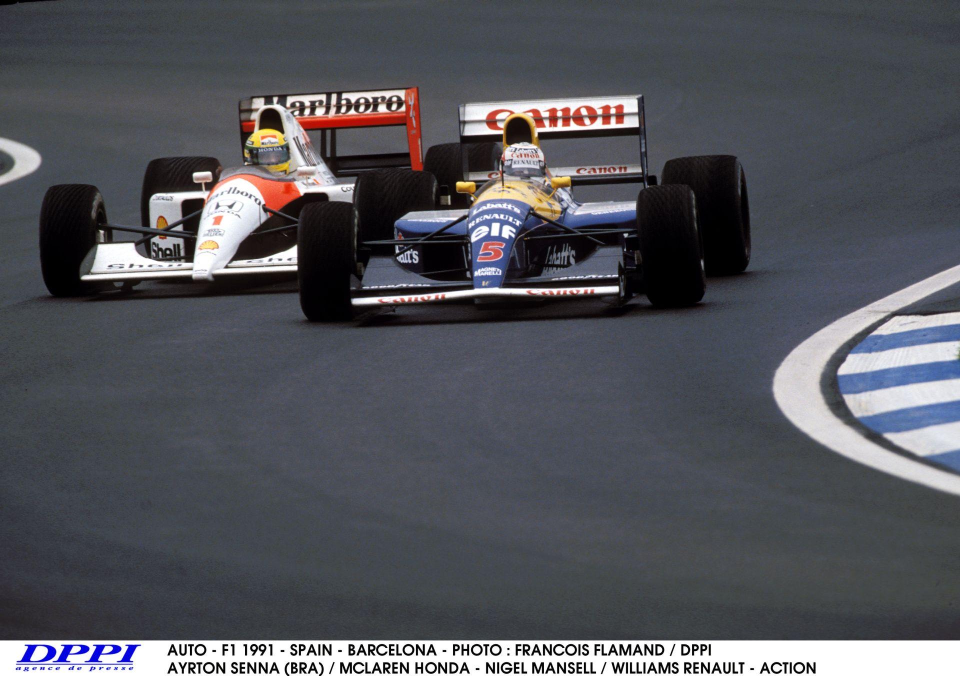 Ayrton Senna híres csatája Nigel Mansell ellen – 1991, Spanyolország