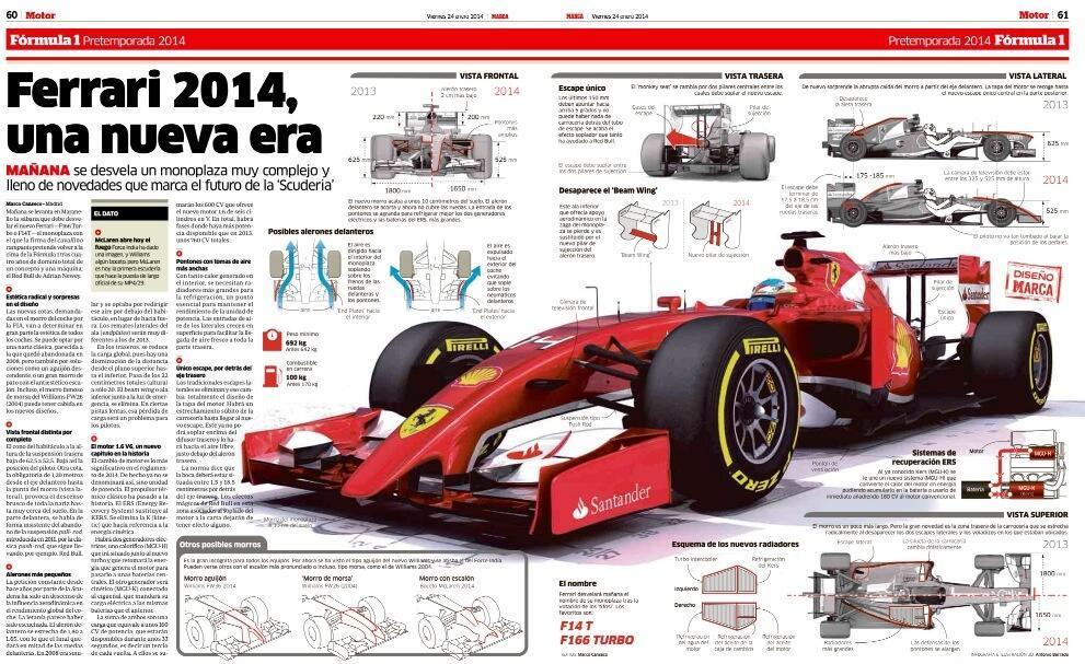 Így nézhet ki Alonso és Raikkönen új munkaeszköze, a 2014-es Ferrari