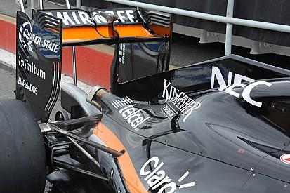 Technique - L'aileron arrière de Force India à Montréal