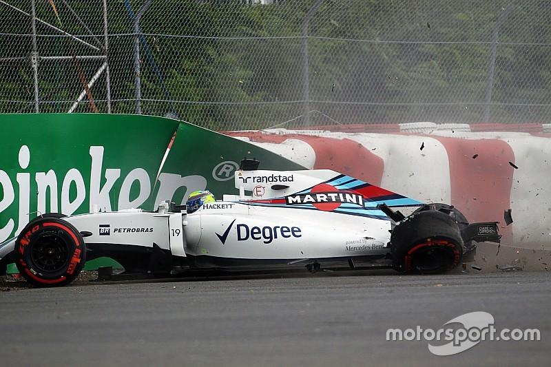 Felipe Massa se frustró por el accidente en la primera práctica