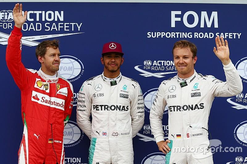 Qualifs - Hamilton d'un souffle devant Rosberg