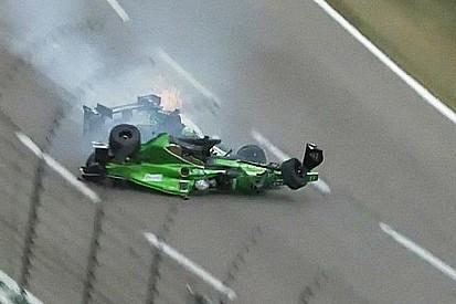 Veja o forte acidente entre Daly e Newgarden no Texas