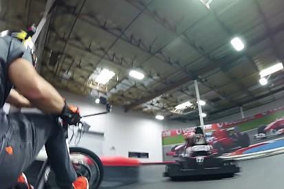 Drift trike és elektromos gokart egy pályán: menő páros!