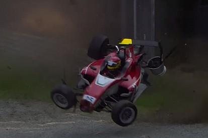 Egészen brutális bukás Monzában a Formula-3-ban
