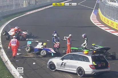 GP3: Nagy baleset Szocsiban a Forma-1 rajtja előtt! Videón az eset