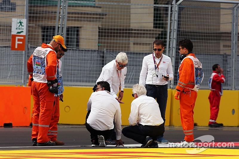 F1-officials werken aan oplossing voor kerb-probleem Baku