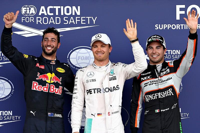 Qualifs - Rosberg devance Pérez, Hamilton trop brouillon