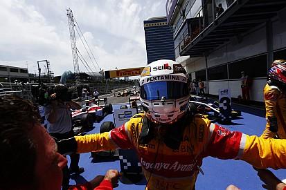 GP2 Bakü : Çılgın yarışta Giovinazzi kazandı, 2'de 2 yaptı
