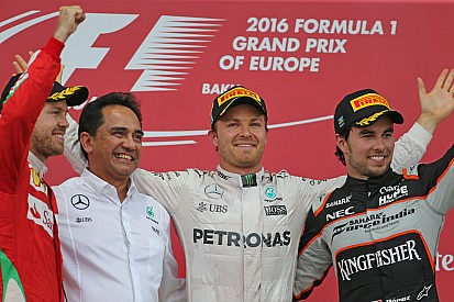 Avrupa GP: Bakü'nün ilk galibi Rosberg!
