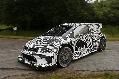 Volkswagen testet WRC-Auto für 2017 im Zebra-Design