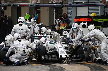 Williams rompe récord en pit stop en Bakú
