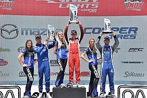 Indy Lights Reporte de la carrera Veach gana, Stoneman y Urrutia fueron penalizados