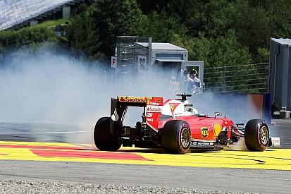ベッテル、FP2のスピンはブレーキバイアスの問題