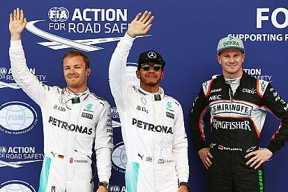 Hamilton gana la pole, Hulkenberg y Button dan la sorpresa