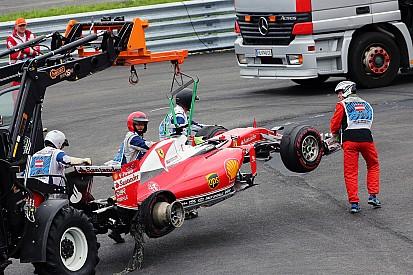 Ferrari ne s'explique pas encore la défaillance du pneu de Vettel
