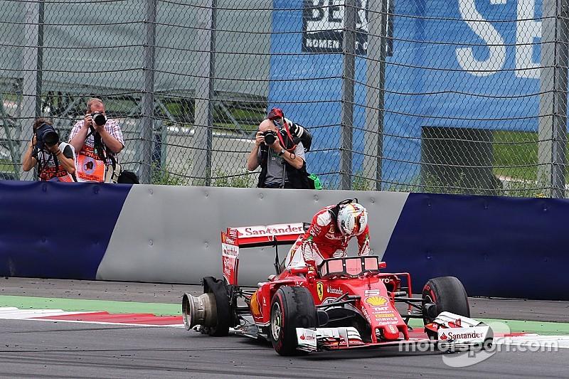 """Pirelli: """"Klapband Vettel veroorzaakt door rommel op de baan"""""""