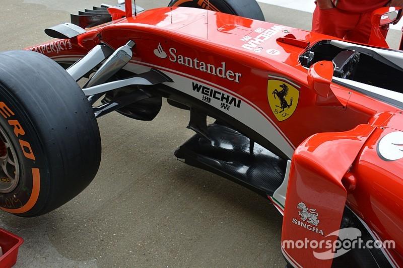 Breve análisis técnico: aletas bajo el chasis del Ferrari SF16-H