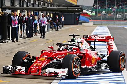 Vettel test nieuwe halo tijdens eerste training op Silverstone