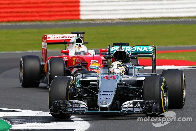 Die Startaufstellung zum Grand Prix von Großbritannien
