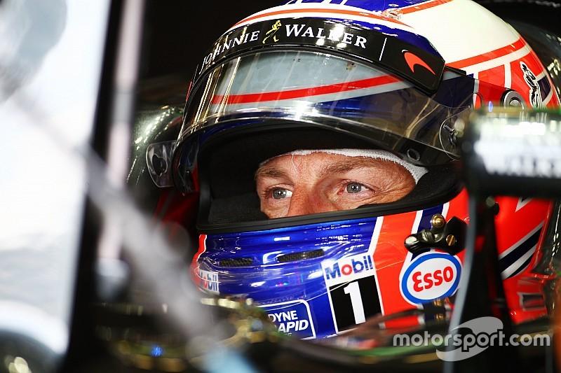 Button had probleem met achtervleugel tijdens kwalificatie