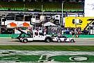 Incendio en estacionamiento del  Kentucky Speedway durante NASCAR