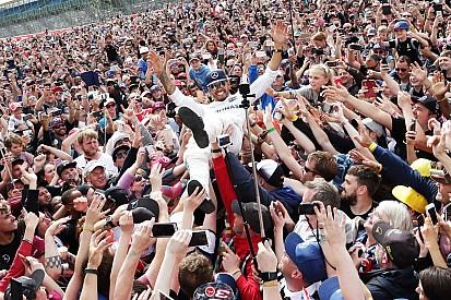 Galería: los festejos de Hamilton en Silverstone