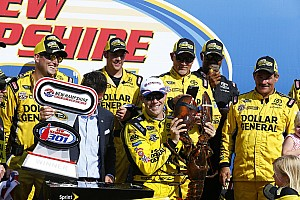 Monster Energy NASCAR Cup Raceverslag Kenseth wint in New Hampshire maar auto niet door keuring