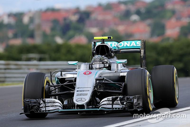 F1ハンガリーGP FP2:ロズベルグが圧倒的な速さ。ハミルトンはクラッシュ!