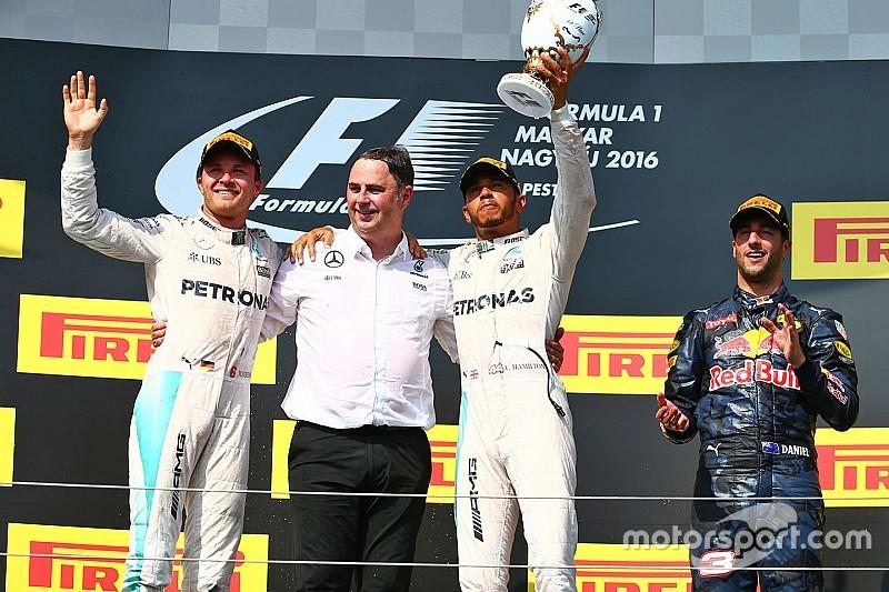 F1ハンガリーGP決勝:ハミルトンが3連勝でランキングトップに浮上。アロンソ7位