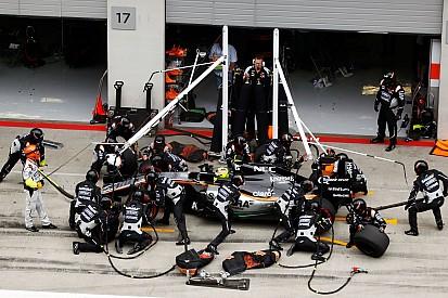 В Force India объяснили заминку на пит-стопе Переса недопониманием