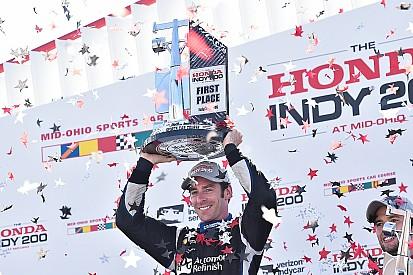 インディカー第13戦ミッドオハイオ:パジェノーが今季4勝目。琢磨は悔しい9位